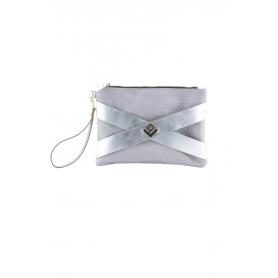 Γυναικεία τσάντα Χειρός Lovely Handmade Carolina Asti 8CAR-L-32 Silver