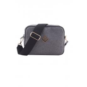Γυναικεία τσάντα Ώμου Lovely Handmade Favor Felt 9FA-W-03 Grey
