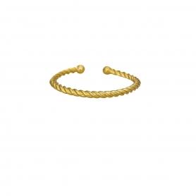 Δαχτυλίδι στριφτό βεράκι από επιχρυσωμένο ασήμι
