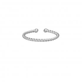 Δαχτυλίδι στριφτό βεράκι από επιπλατινωμενο ασήμι