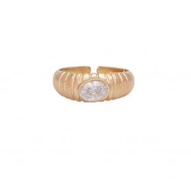 Δαχτυλίδι με λευκό ζιργκόν από ασήμι