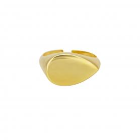 Δαχτυλίδι σε μοντέρνο σχέδιο απο επιχρυσωμένο ασημί