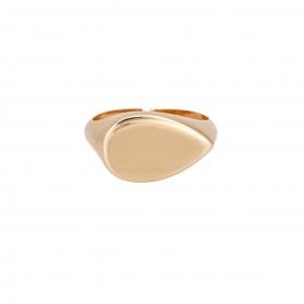 Δαχτυλίδι σε μοντέρνο σχέδιο απο ασήμι με ροζ χρυσό επιχρύσωμα