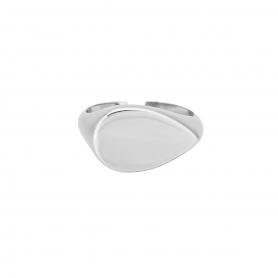 Δαχτυλίδι σε μοντέρνο σχέδιο απο επιπλατινωμένο ασήμι