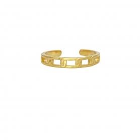 Δαχτυλίδι βέρα με σχέδιο αλυσίδια απο επιχρυσωμένο ασημί