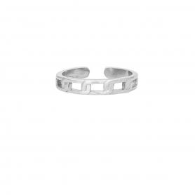 Δαχτυλίδι βέρα με σχέδιο αλυσίδια απο επιπλατινωμένο ασημί