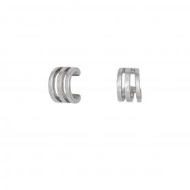 Ασημένιο επιπλατινωμένο μονό σκουλαρίκι ear cuff