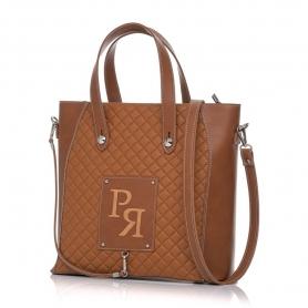 Γυναικεία τσάντα χειρός καπιτονέ Pierro Accessories 90594KPT11 Ταμπά