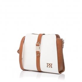 Γυναικεία τσάντα χιαστί Pierro Accessories 90582DL07 Λευκό