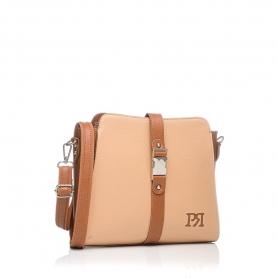Γυναικεία τσάντα χιαστί Pierro Accessories 90582DL09 Κάμελ