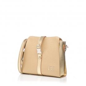 Γυναικεία τσάντα χιαστί Pierro Accessories 90582DL24 Χρυσό