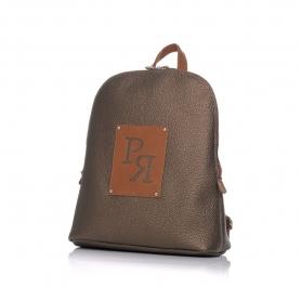 Γυναικεία τσάντα σακίδιο πλάτης Pierro Accessories 90567DL29 Μπρονζε