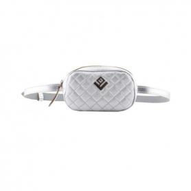 Γυναικείο τσαντάκι μέσης Belt Bag Lovely Handmade Remvi 9B-C-32 Silver