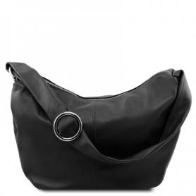 Γυναικεία Τσάντα Δερμάτινη Yvette - Μαύρο TL140900