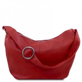 Γυναικεία Τσάντα Δερμάτινη Yvette - Κόκκινο TL140900