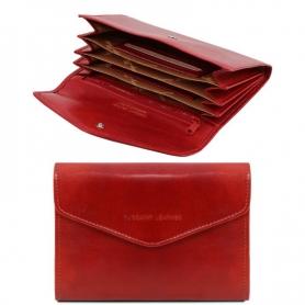 Γυναικείο Πορτοφόλι Δερμάτινο 140786 - Κόκκινο