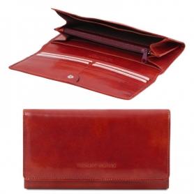 Γυναικείο Πορτοφόλι Δερμάτινο 140787 - Κόκκινο