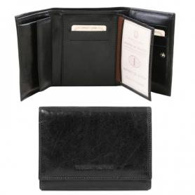 Γυναικείο Πορτοφόλι Δερμάτινο TL140790 - Μαύρο