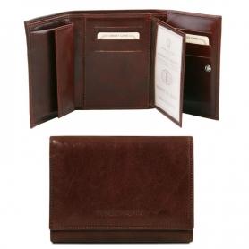 Γυναικείο Πορτοφόλι Δερμάτινο TL140790 - Καφέ σκούρο