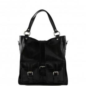 Γυναικεία Τσάντα Δερμάτινη Melissa - Μαύρο TL140928