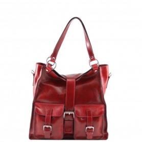 Γυναικεία Τσάντα Δερμάτινη Melissa - Κόκκινο TL140928