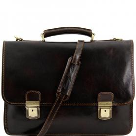 Ανδρική Τσάντα Δερμάτινη Firenze - Καφέ σκούρο