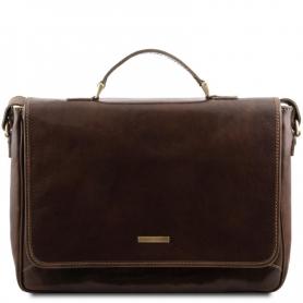 Τσάντα Laptop Δερμάτινη Padova 15'' - Καφέ σκούρο