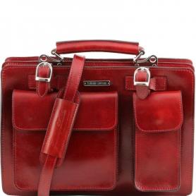 Γυναικεία Επαγγελματική Τσάντα Δερμάτινη Tania - Κόκκινο