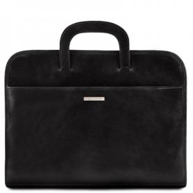 Επαγγελματική Τσάντα Δερμάτινη Sorrento - Μαύρο