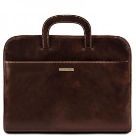 Επαγγελματική Τσάντα Δερμάτινη Sorrento - Καφέ σκούρο