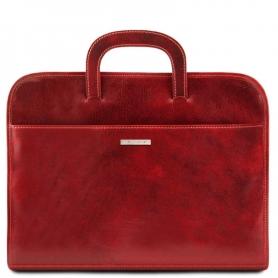 Επαγγελματική Τσάντα Δερμάτινη Sorrento - Κόκκινο TL141022