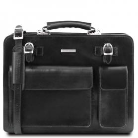 Επαγγελματική Τσάντα Δερμάτινη Venezia - Μαύρο