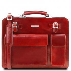 Επαγγελματική Τσάντα Δερμάτινη Venezia - Κόκκινο