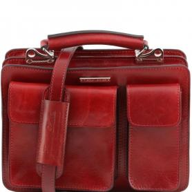 Γυναικεία Επαγγελματική Τσάντα Δερμάτινη Tania S - Κόκκινο