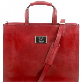 Γυναικεία Επαγγελματική Τσάντα Δερμάτινη Palermo 9'' - Κόκκινο