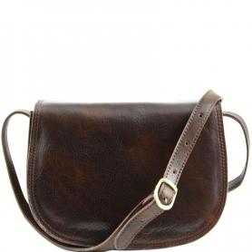 Γυναικεία Τσάντα Δερμάτινη Isabella - Καφέ σκούρο TL9031