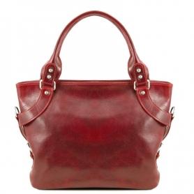 Γυναικεία Τσάντα Δερμάτινη Ilenia - Κόκκινο TL140899