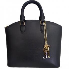 Γυναικεία Τσάντα Δερμάτινη Saffiano Leather Tote N - Μαύρο