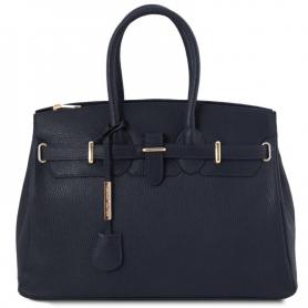 Γυναικεία Τσάντα Δερμάτινη TL141529 - Μπλε σκούρο