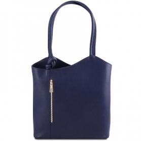 Γυναικεία Τσάντα Δερμάτινη Patty - Μπλε σκούρο TL141455
