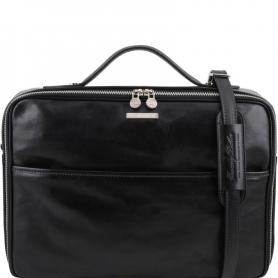 Τσάντα Laptop Δερμάτινη Vicenza 15'' - Μαύρο