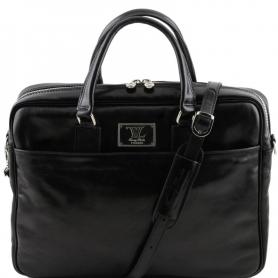 Τσάντα Laptop Δερμάτινη Urbino 15.6'' - Μαύρο