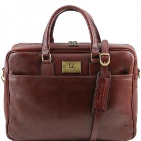 Τσάντα Laptop Δερμάτινη Urbino 15.6'' - Καφέ