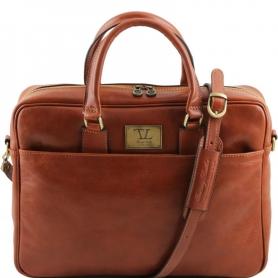 Τσάντα Laptop Δερμάτινη Urbino 15.6'' - Μελί