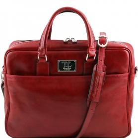 Τσάντα Laptop Δερμάτινη Urbino 15.6'' - Κόκκινο