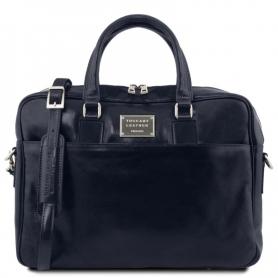 Τσάντα Laptop Δερμάτινη Urbino 15.6'' - Μπλε σκούρο