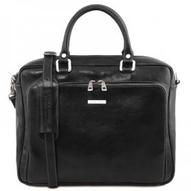 Τσάντα Laptop Δερμάτινη Pisa 14.4'' - Μαύρο
