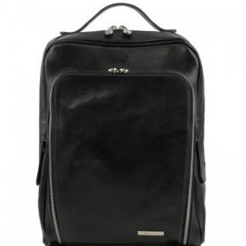 Ανδρική Τσάντα Δερμάτινη Πλάτης Bangkok 15'' - Μαύρο TL141289