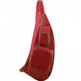 Ανδρικό Τσαντάκι Πλάτης Δερμάτινο TL141352 - Κόκκινο