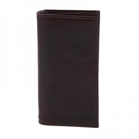 Δερμάτινο Πορτοφόλι / Θήκη TL140777 - Καφέ σκούρο